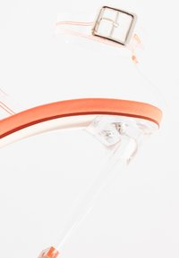BEBO - ROCHELLE - Sandalen met hoge hak - clear/neon orange
