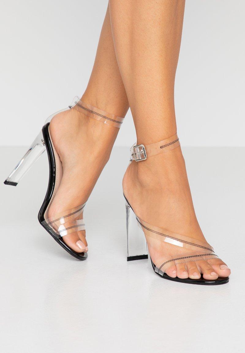 BEBO - ROCHELLE - High Heel Sandalette - clear/black