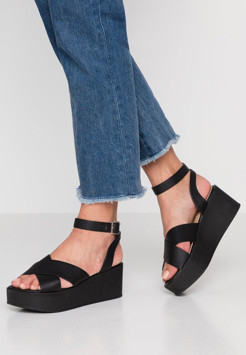RAID - DENISE - Korkeakorkoiset sandaalit - black