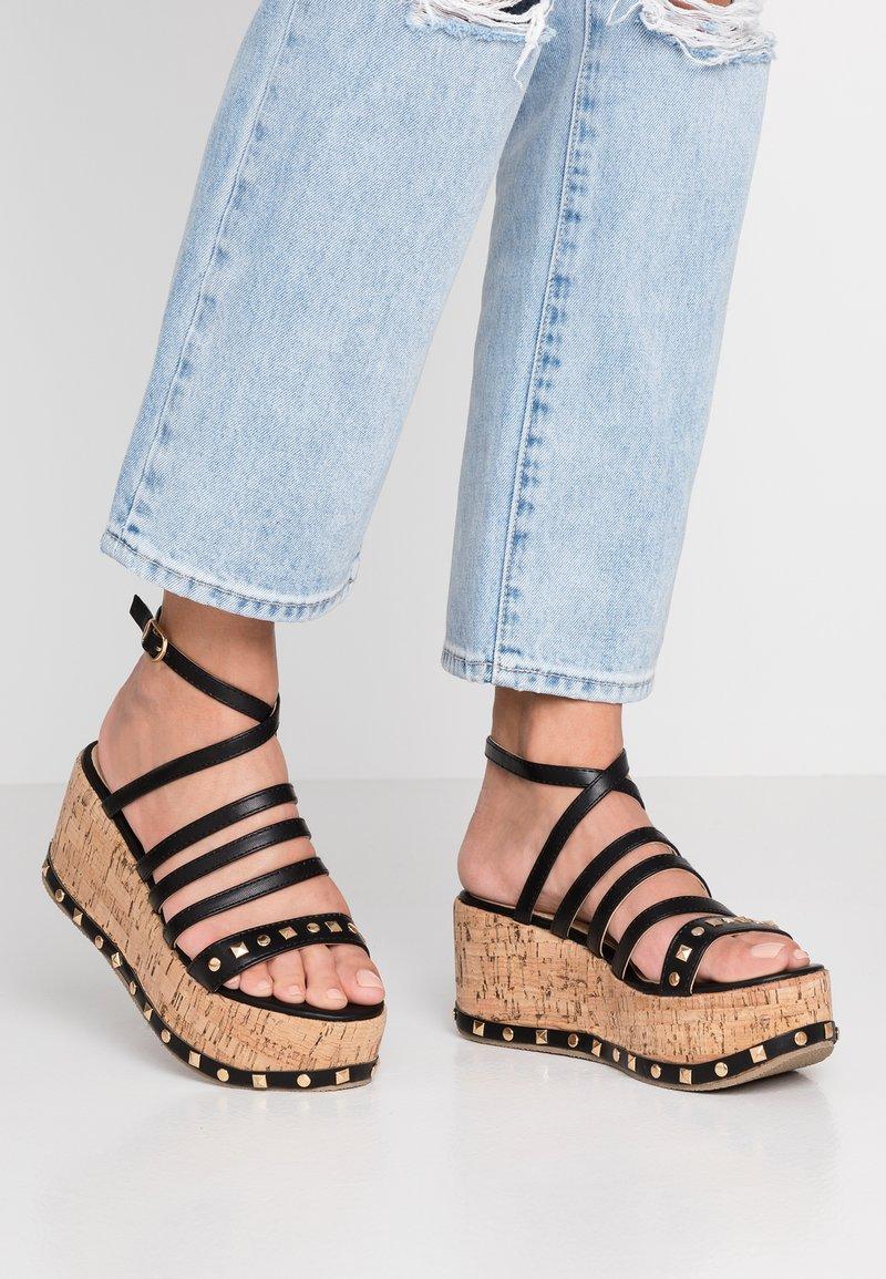 RAID - FALLON - Platform sandals - black
