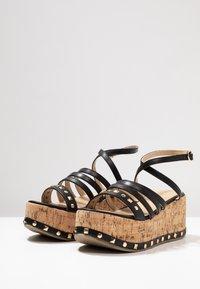 RAID - FALLON - Platform sandals - black - 4
