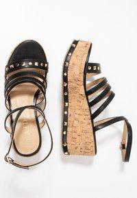 RAID - FALLON - Platform sandals - black - 3