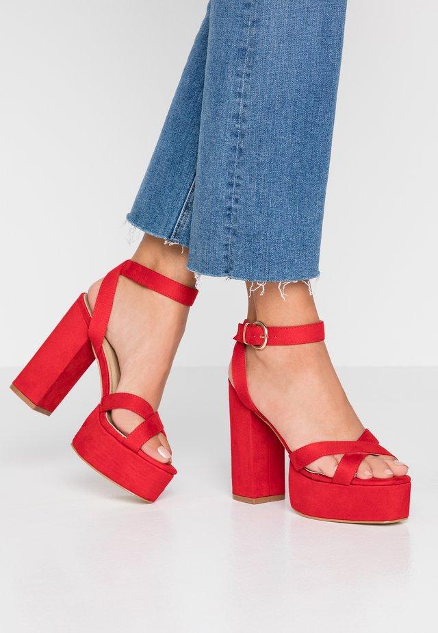 LUCIAN - Sandaletter - red