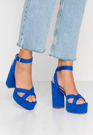LUCIAN - High heeled sandals - cobalt blue