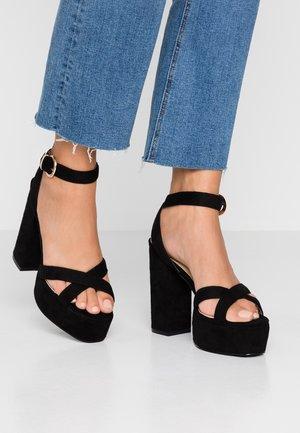 LUCIAN - Sandály na vysokém podpatku - black