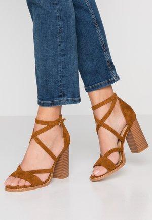 ESTRELLA - High heeled sandals - tan