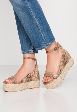 MONICA - High heeled sandals - beige