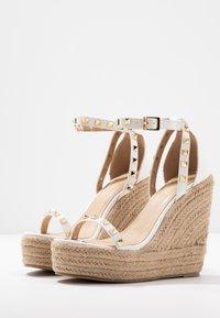 RAID - KORI - Sandály na vysokém podpatku - white - 4