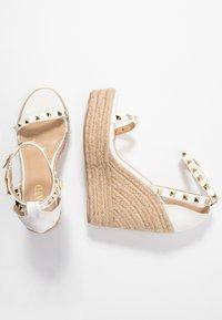RAID - KORI - Sandály na vysokém podpatku - white - 3