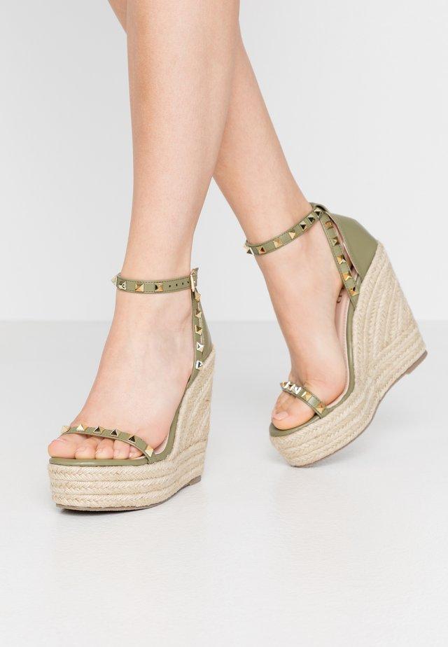 KORI - High heeled sandals - sage green