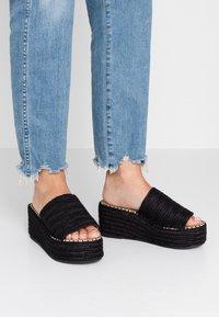 RAID - MELODY - Pantofle na podpatku - black - 0