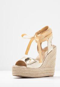 RAID - MARGARET - Højhælede sandaletter / Højhælede sandaler - gold - 4
