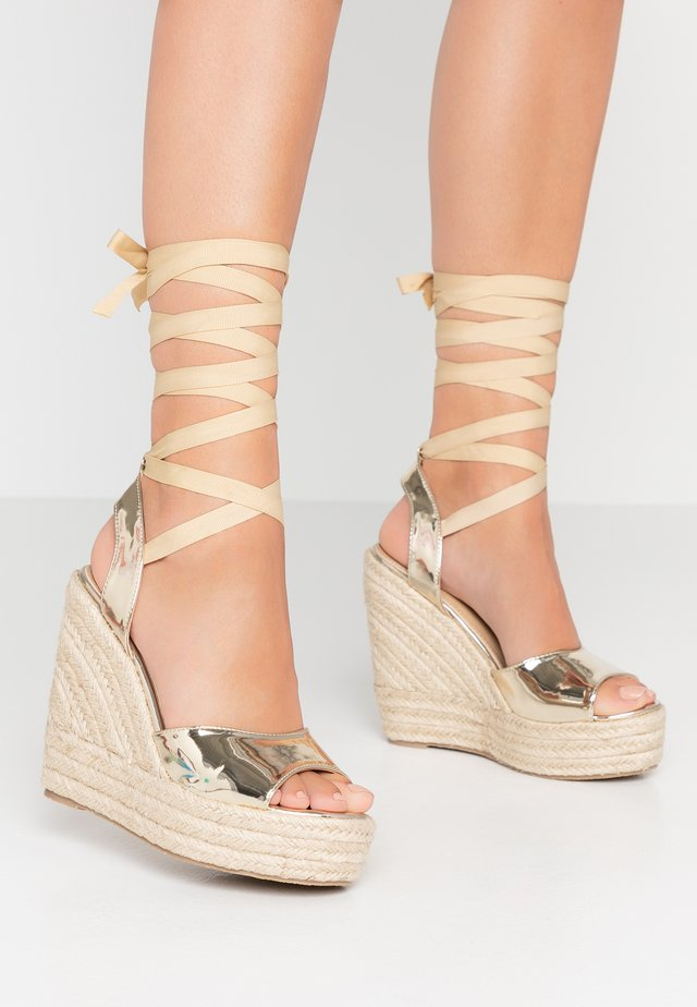 MARGARET - Sandalen met hoge hak - gold