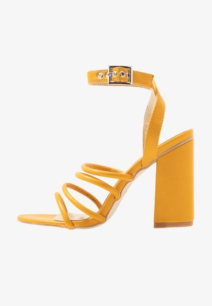 MARY - High heeled sandals - yellow