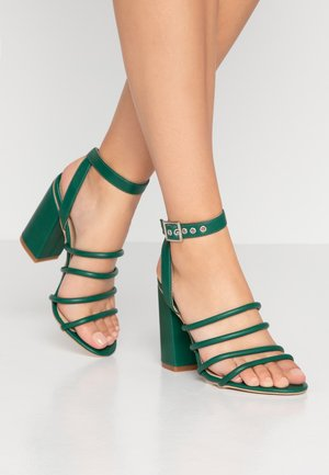 MARY - Sandály na vysokém podpatku - green
