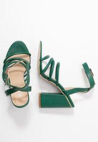 RAID - MARY - Sandály na vysokém podpatku - green - 3