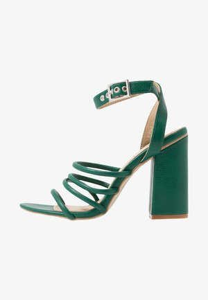 MARY - High heeled sandals - green
