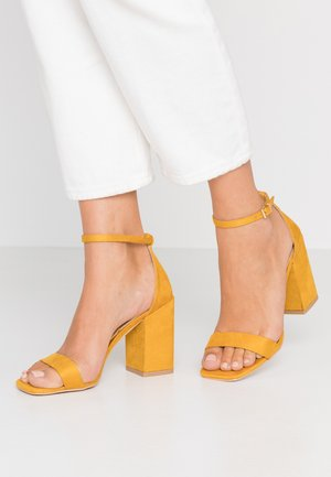 RAELYNN - High heeled sandals - yellow
