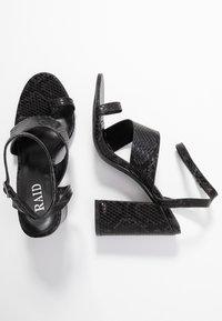 RAID - JADE - Sandály na vysokém podpatku - black - 3