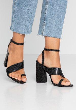 JADE - Sandály na vysokém podpatku - black