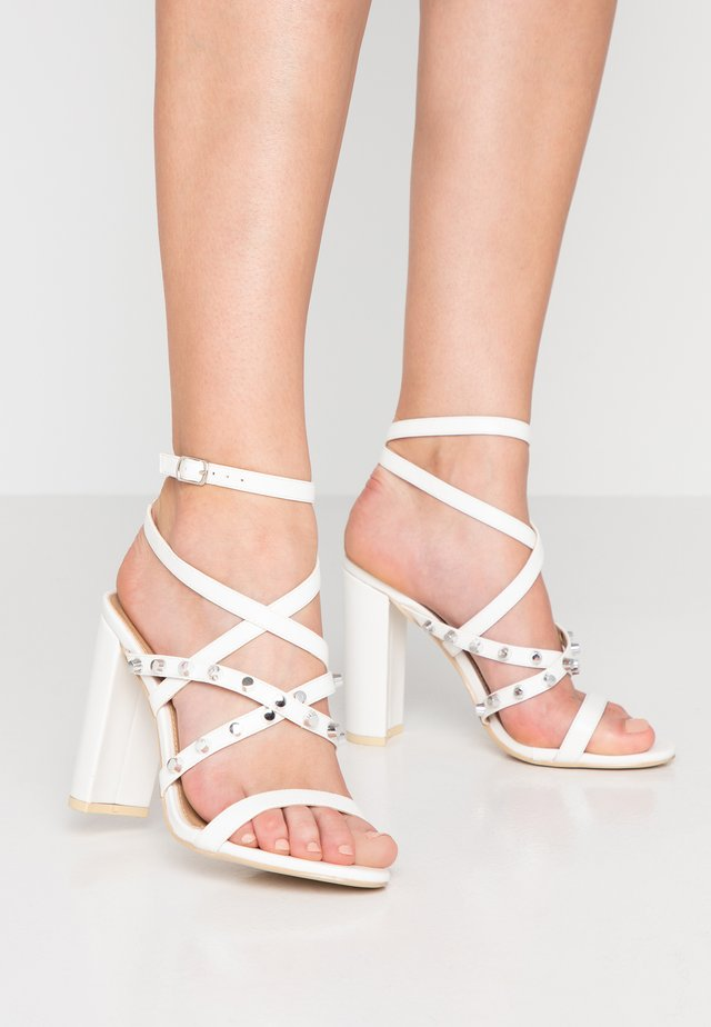 SOPHIE - High heeled sandals - white