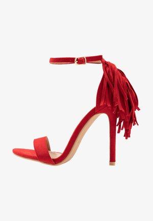 KATHERINE - Sandály na vysokém podpatku - red