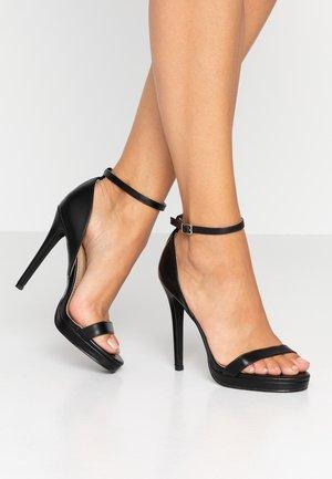 REAGAN - Sandaler med høye hæler - black