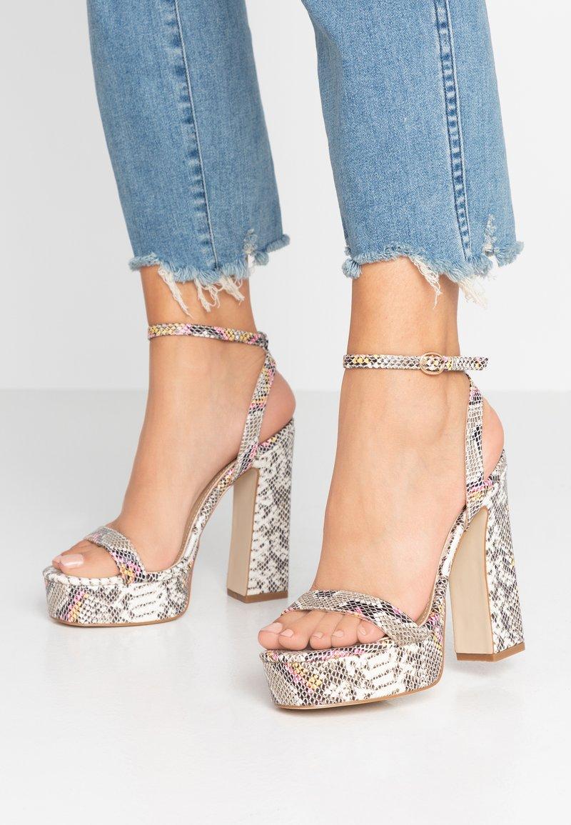 RAID - GIANNA - High heeled sandals - grey/multicolor