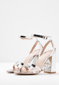 RAID - MEILANI - Sandaler med høye hæler - silver metallic - 4