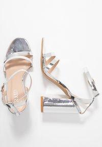 RAID - MEILANI - Sandaler med høye hæler - silver metallic - 3