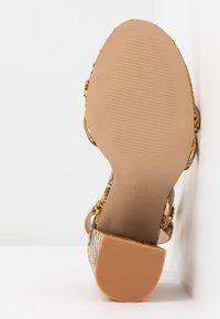 RAID - MEILANI - Sandály na vysokém podpatku - yellow - 6