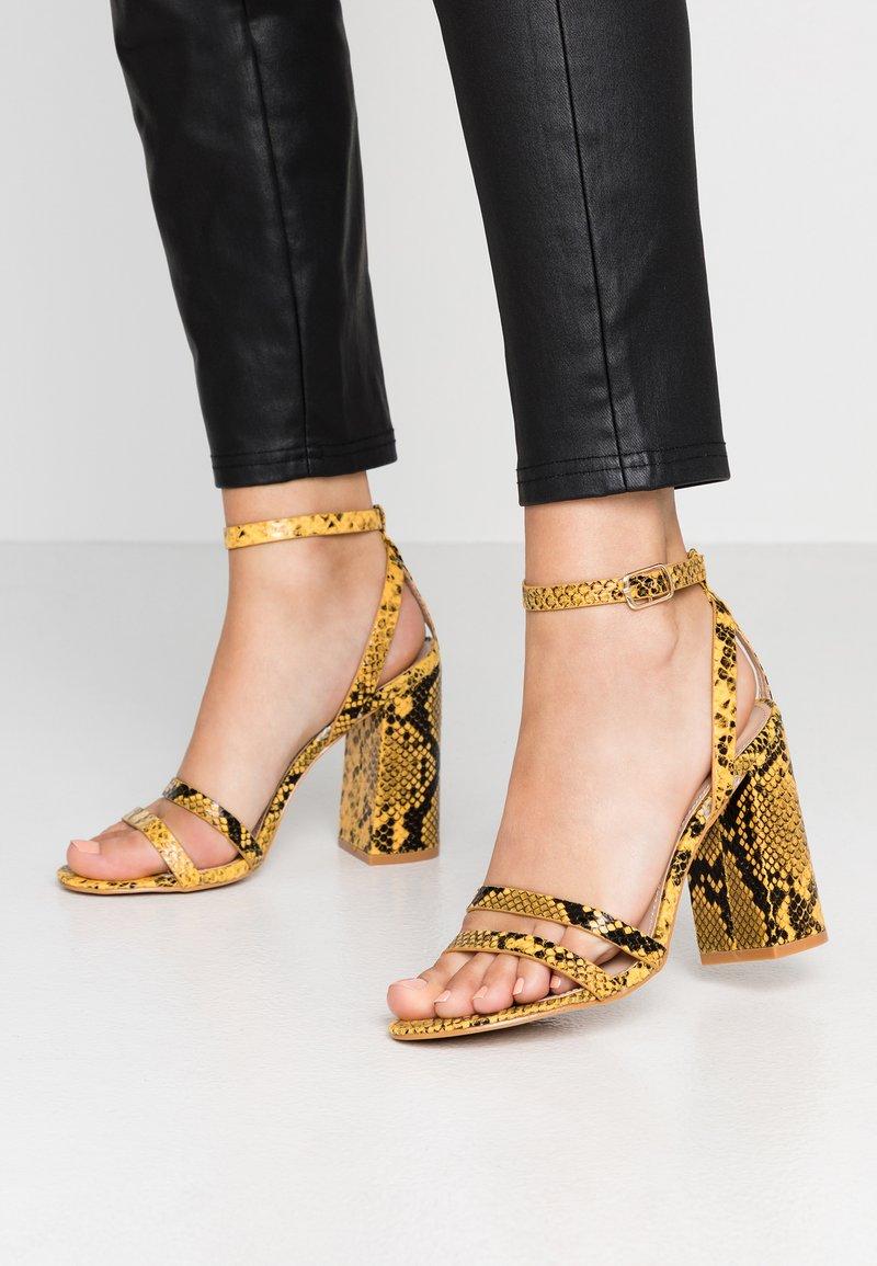 RAID - MEILANI - Sandály na vysokém podpatku - yellow
