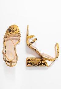 RAID - MEILANI - Sandály na vysokém podpatku - yellow - 3