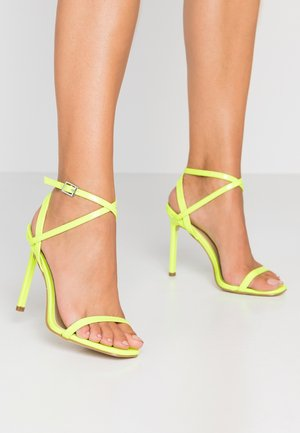 CAROLYN - High Heel Sandalette - yellow neon