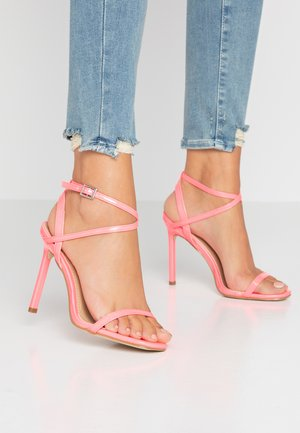 CAROLYN - High heeled sandals - pink neon