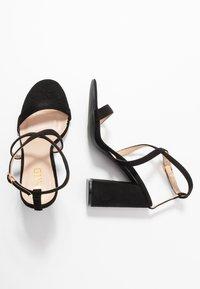 RAID - EGYPT - Sandály na vysokém podpatku - black - 3