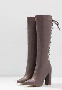 RAID - LENNOX - Boots med høye hæler - taupe - 4