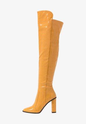 CYNTHIA - Laarzen met hoge hak - tan croc