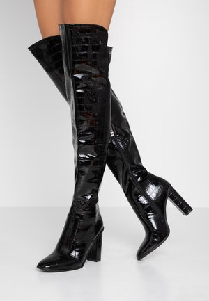 CYNTHIA - Boots med høye hæler - black