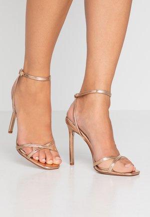ANNIE - High heeled sandals - rose gold