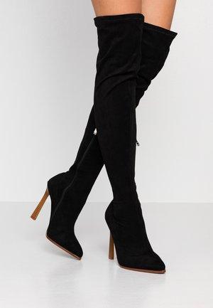 VALERY - Boots med høye hæler - black