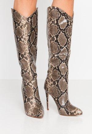 LAURITA - Boots med høye hæler - beige