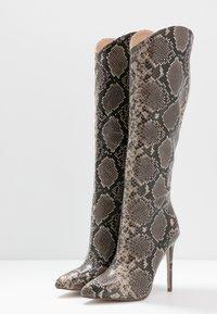 RAID - LAURITA - Boots med høye hæler - beige - 4