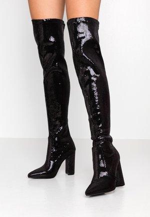 KRISTEN - Kozačky na vysokém podpatku - black