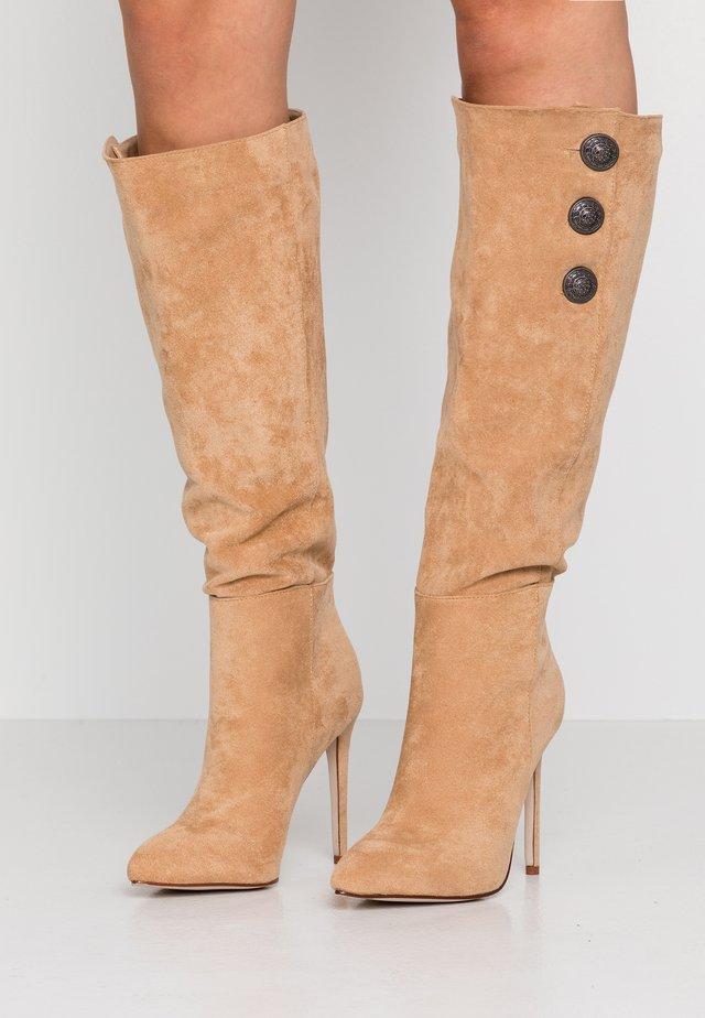 ANGELA - High heeled boots - nude