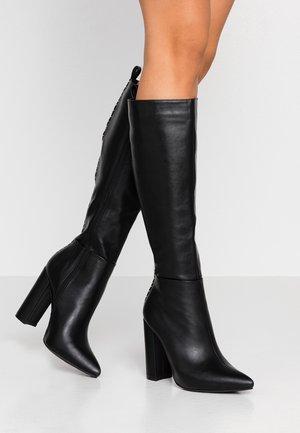 High Heel Stiefel - black