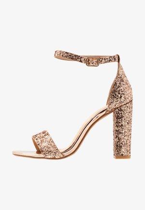 AMINA - Sandaletter - rosegold glitter