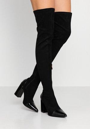ALLIE - High heeled boots - black