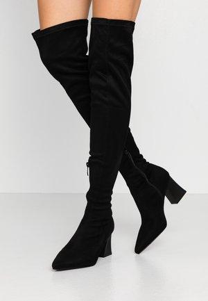 FELISA - Kozačky nad kolena - black