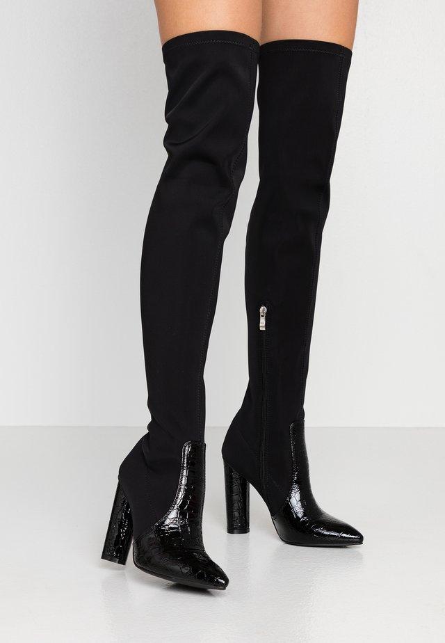 JUDINA - Laarzen met hoge hak - black